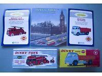 2 Atlas Dinky Trucks,c.o.a,1958 repro catalogue