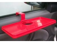 CAR CUP HOLDERS AND TRAYS, NEW, 2 of each