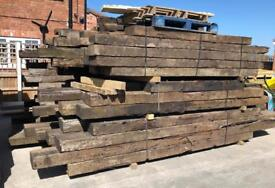 🌻 •Used• Wooden/ Timber Railway Sleepers ~ Various Sizes