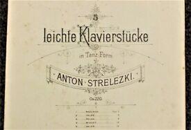 Anton Strelezki; Complete Solo Piano Works (all 1st Editions)