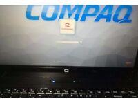 "Laptop 15.6"" HP COMPAQ ,Intel T5870 CPU 2.00GHz, Win7 Pro, 3GB RAM, WiFi, DVD-RW"