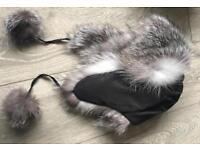 Luxurious real fox fur hat