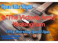 Open Mic Night Every Thursday @ The Victoria Arms, Wokingham