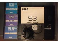 Korg S3 Rhythm Workstation PLUS 3 ROM cards