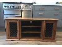 Corner Wooden Television TV unit / stand Sheesham Jali Indian