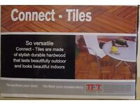 Top Quality New & Unused Interlocking Hardwood Tiles 300mm square. Price per box of 9 Tiles