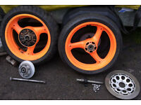 GSXR1100N Wheels with Sprocket Carrier.