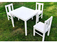 Childrens IKEA Kritter Table & 3 Chairs - £25