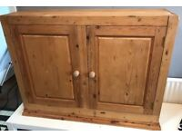 Pine TV Cabinet Storage