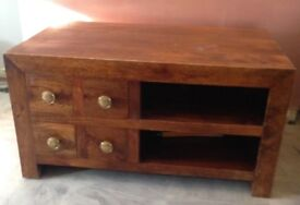 Next mango wood table and tv unit