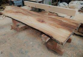 Ash, Elm, Oak Hardwood Slabs / Boards