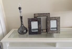 Next photo frames and lamp