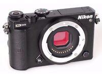 Nikon 1 J5 Compact System Camera Body Only - Black (20.8 Mp, 4k Movie)