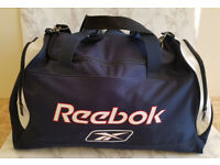 Gym Bag Large Reebok Blue Holdall Duffle Kit Travel Overnight Weekend Retro
