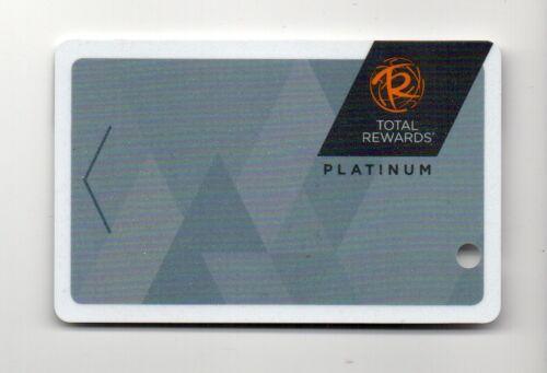 Total Rewards Platinum Caesars Harrahs Ballys Casino Players Card Blank