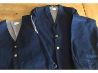 Boys John Lewis Heirloom Collection Linen Navy Lined 3piece suit. Aged 12 years.