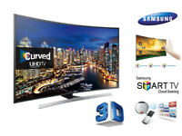 Samsung 4K Curved 3D Ultra HD Smart TV . Like NEW in original Box. Delivery options available.