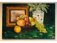 Original Oil Painting of a Fruit Bowl.