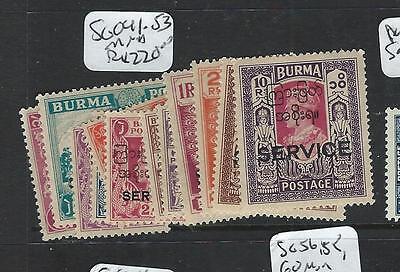 BURMA (P0608B) ON INDIA KGVI SG O41-53   MNH