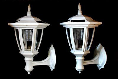 2-Have had it Garden WHITE Solar Hexagon Lights w/ Wall Mount With WHITE LEDS