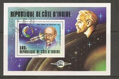 Ivory Coast SC # 465 Nobel Prize Winners- Max Planck- . CTO. MNH