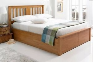 """BRAND NEW """"COHINA"""" Modern Solid OAK / TIMBER GAS LIFT Bed Frame Reservoir Darebin Area Preview"""