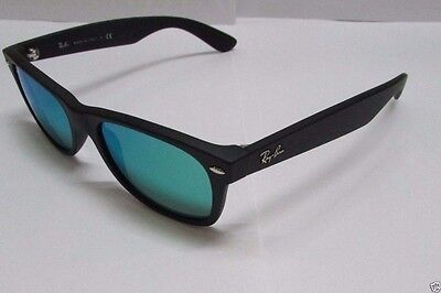 642258268d Ray-Ban Sunglasses Wayfarer Flash RB2132 622 19 Black Matte   Green Mirror  Lens