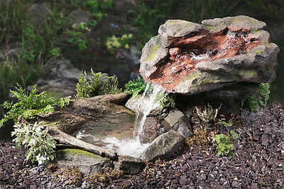 Stone Rock Effect Water Feature Fountain Cascade Waterfall Pool Pond Garden