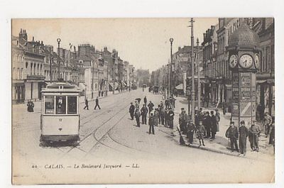 France, Calais, Le Boulevard Jacquard, Tram LL 44 Postcard, B083