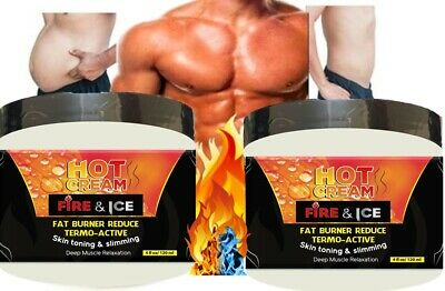 2 Men Slimming Cream Fat Burning Muscle Belly Stomach Reducer Weight Loss Gel