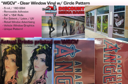 "See-Through Window Graphic Vinyl - CIRCLE Pattern - 54""x164"