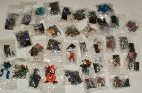 "Lot of 36 Official Miniature 1""-2"" Gundam Figures Bandai US Seller"