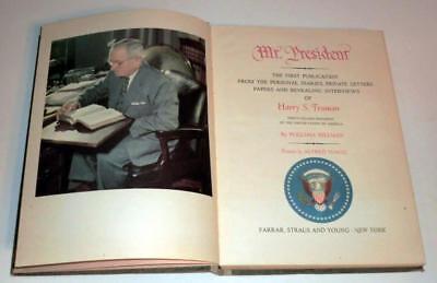 Mr. President: Harry S. Truman by William Hillman (1952, Hardcover) VINTAGE!