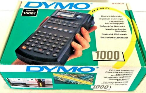 DYMO 1000 FULLY BOXED ESSELTE  ELECTRONIC LABEL MAKER PRINTER BATTERY OPERATED