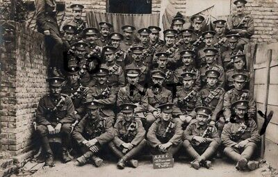 WW1 Officer Soldier Group A.A.H.C. ASC Army Service Corps in France 1916
