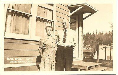 Haven Resort (Blue Haven Resort, Deer River, Minn. Vintage Postcard )