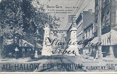 Albany NY * All Halloween Carnival 1905  South Gate  RARE Unusual Oct 31](Ny Halloween)