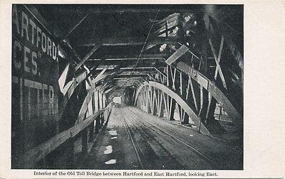For sale Hartford / East Hartford CT * Old Toll Bridge Interior Looking East ca 1908