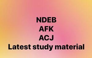 NDEB AFK, ACJ study material