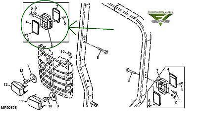 John Deere 3720 4105 4200 4300 4400 4500 Complete Rh Tail Light Lva14366