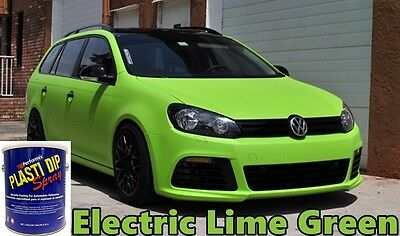 1 Gallon Ready 2 Spray Plasti Dip Rubber Dip Electric Lime Green Rubber Coating