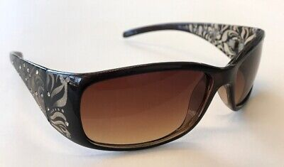 Women's Sunglasses - Panama Jack (Floral Brown Rhinestone Design) (Jack Sunglasses)