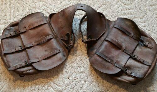 Antique Indian War Era PATTERN 1885 US Calvary Leather Saddle Bags U.S. Stamped