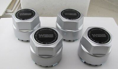 88-92 FIREBIRD TRANS AM WS6 WHEEL CENTER CAPS SILVER CAP W/BLACK & SILVER CENTER