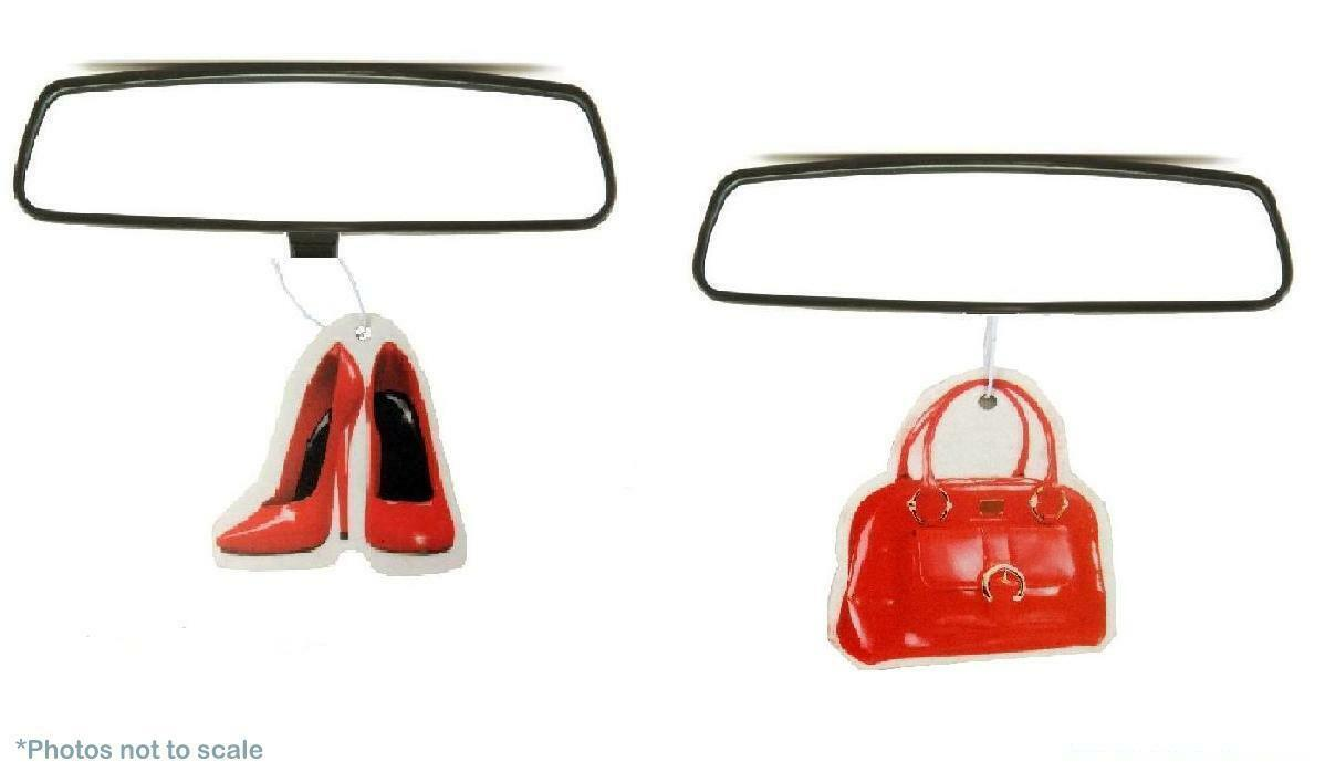 Car Freshener: Red Champagne Shoes & Handbag Car Air Fresheners Hanging