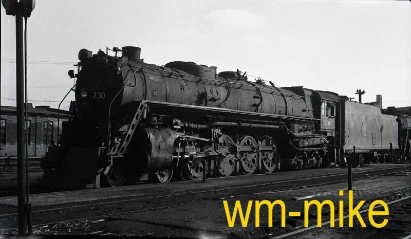 #B-024 Milwaukee Road 4-8-4 steam #230 ORIGINAL B&W Negative