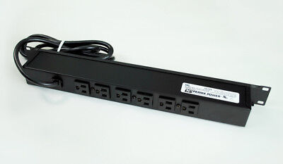 Perma Power 6-Outlet 15-Amp Rackmount Computer Grade Surge Strip w + 15 ft. Cord