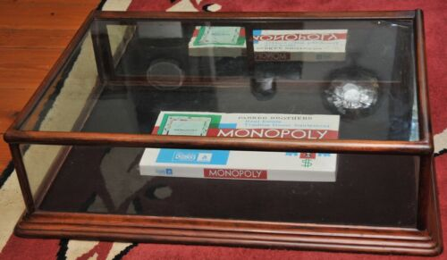 Antique 19th century mahogany & glass jewelry store counter top display case