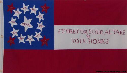 HEAVy COTTON 10TH TEXAS CAVALRY FLAG - CSA - 3X5 DIXIE CIVIL WAR - FREE SHIPPING