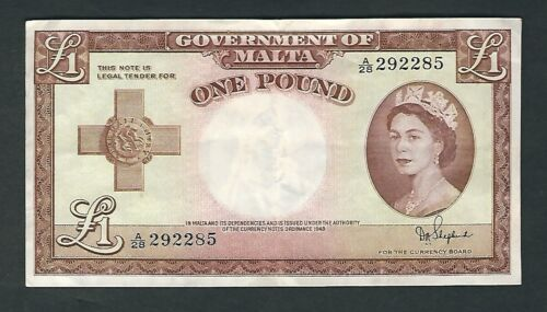 Malta - 1954, One (1) Pound